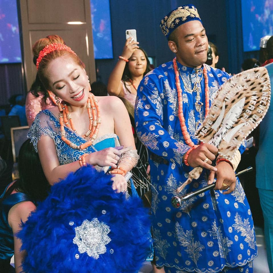 Lovely photos from a Nigerian man's wedding to a Taiwanese lady in Taipei