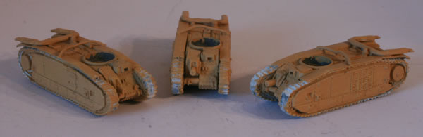 Painting the Flames of War Char B1 bis