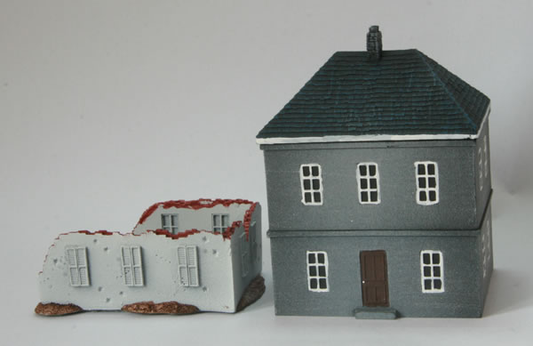 Here is the Calais House compared to the ruins from the Jagdpanther boxed set.
