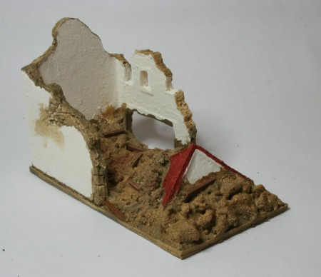 15mm Ruined Shop with Passage