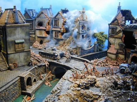 Kobblestone Buildings World War Two Diorama