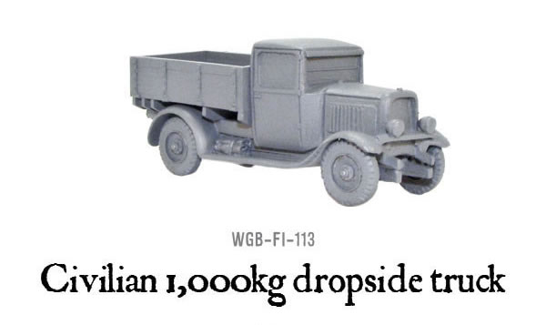 Bolt Action Civilian 1000Kg Dropside Truck