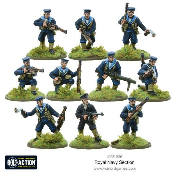 Warlord Games Bolt Action Royal Navy section
