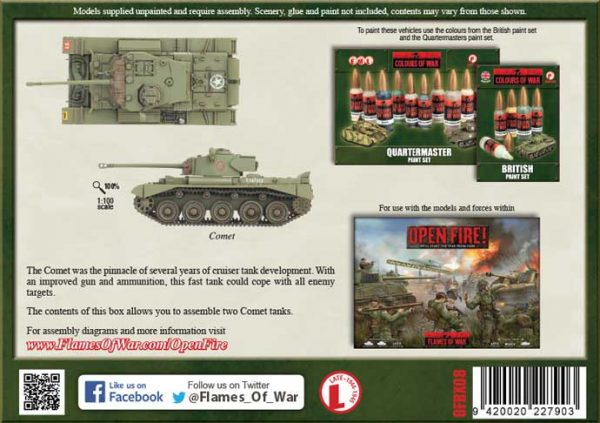 Flames of War Comet Tanks Box OFBX08