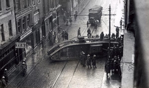 British army tank in Dublin