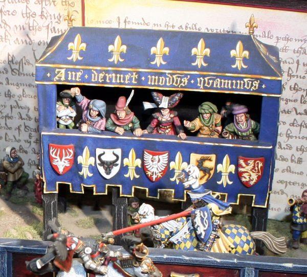 Dave Andrews' Bretonnian Joust diorama 1996