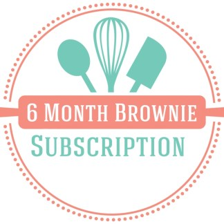 6 month brownie baking subscription box
