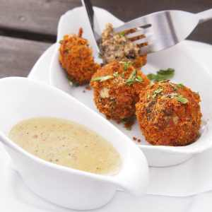 Recipe idea: Haggis Bon Bons with a Whiskey Sauce