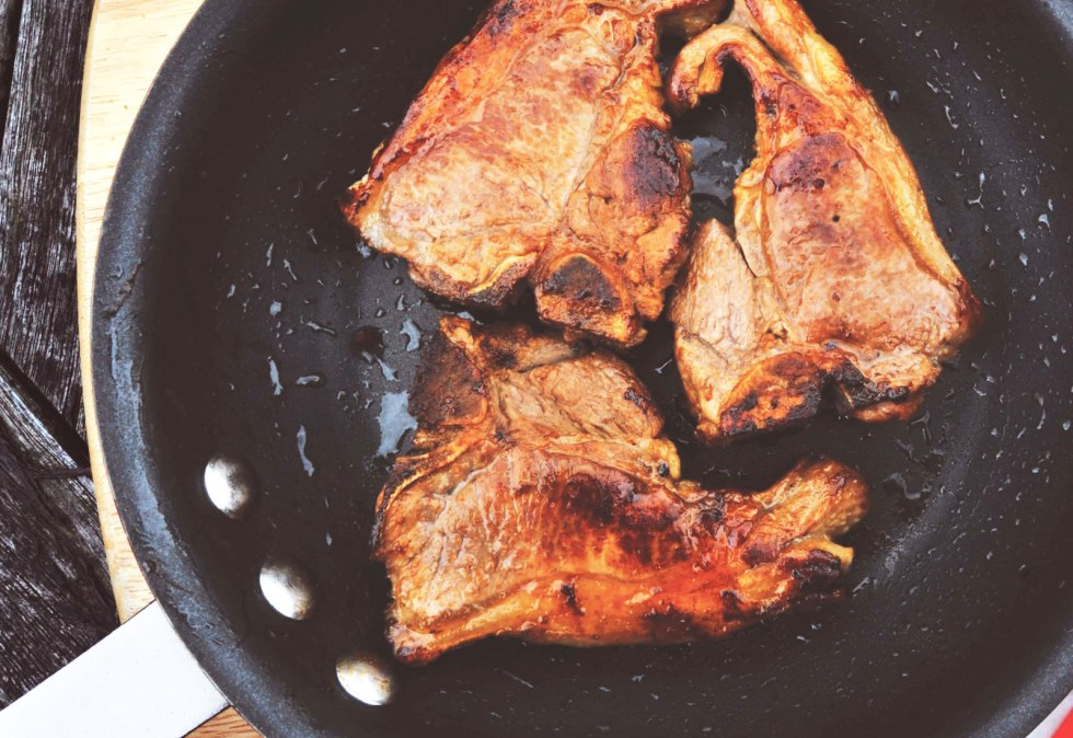 Fiery Lamb Steaks with AVO Lafiness Habanero Marinade