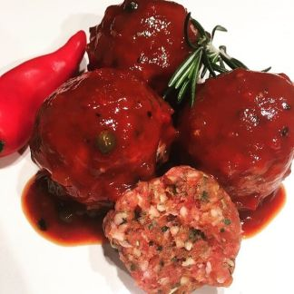 Lamb Kofta Meatballs with AVO Brazil Pepper Sauce