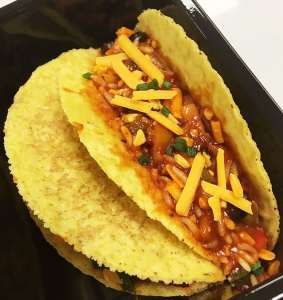 Mexican Style Rice and Bean Tacos