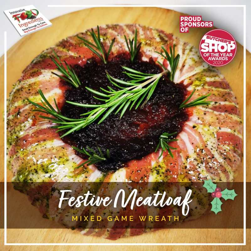 Festive Meatloaf Wreath