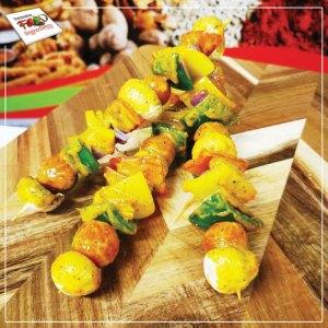Zesty Lime Butter Vegetable Kebabs