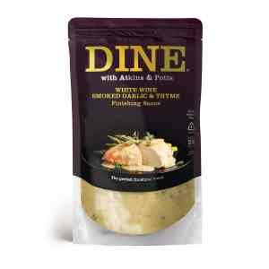 DINE IN with Atkins & Potts White Wine, Smoked Garlic & Thyme Sauce