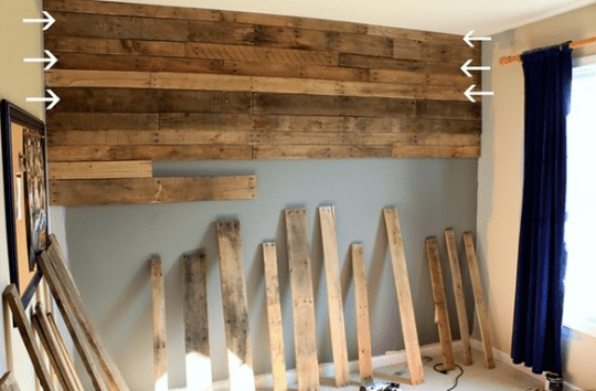 Awesome Wood Pallet Wall   How It Could Have Killed Me wood pallet wall pinterest inspiration