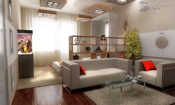 Дизайн гостиной хрущевки, современные идеи и фото | Все о ...
