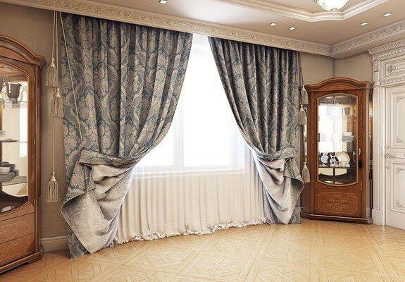 Современный дизайн штор для гостиной фото | Все о гостиной ...