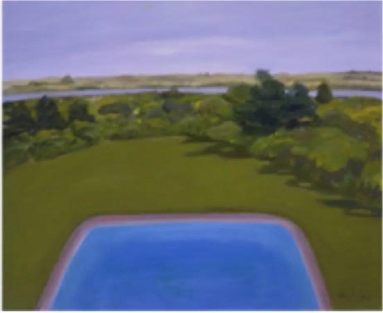 "Jane Freilicher, The Pool, oil on linen, 2006, 25' x30"""
