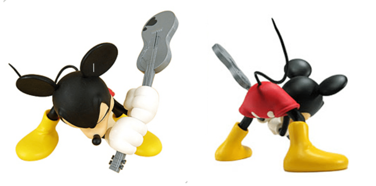 VCD Vinyl Collectible Dolls Clash Guiter Mickey Figure Medicom Toy JAPAN NEW.