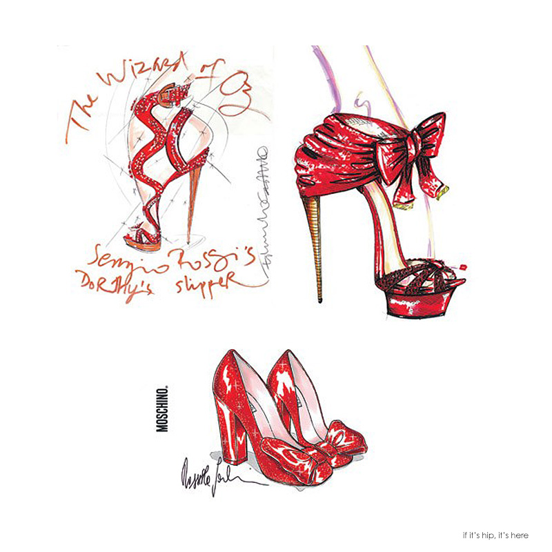 Designers re-imagine Dorothy's ruby slippers