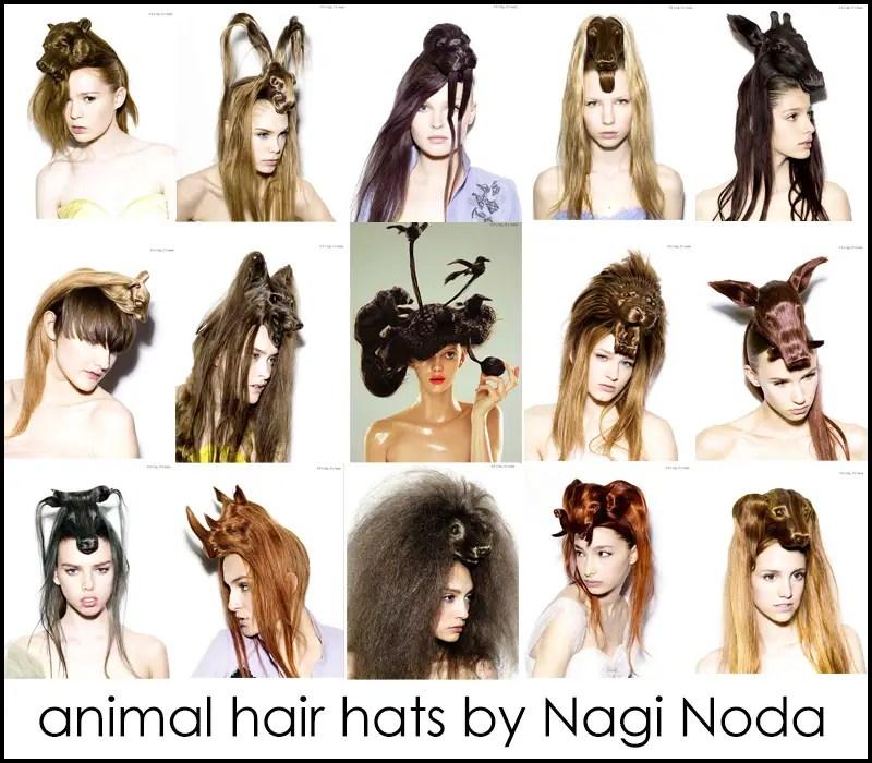 animal hair hats by Nagi Noda IIHIH