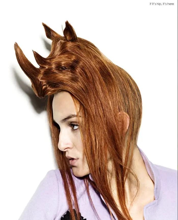 animal wig rhino IIHIH 6