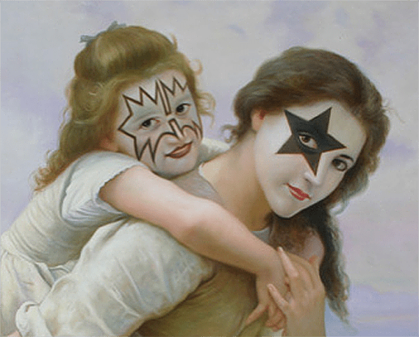 Read more about the article Ron English Adds a Little Classic Rock to Some Classic Paintings