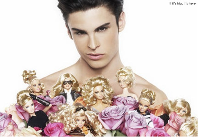 Karl Lagerfeld photos of Ken and Barbie