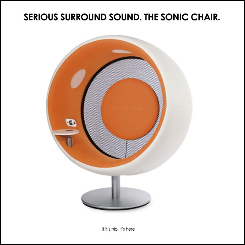 talk about surround sound the sonic chair if it 39 s hip. Black Bedroom Furniture Sets. Home Design Ideas