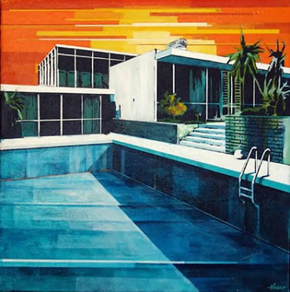 empty pool by Paul Davies