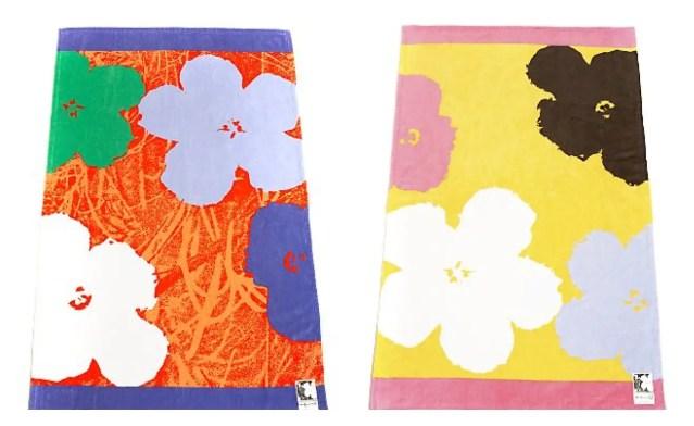 DVF Warhol inspired beach towels