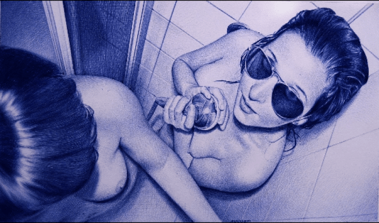 rated R ballpoint pen drawings