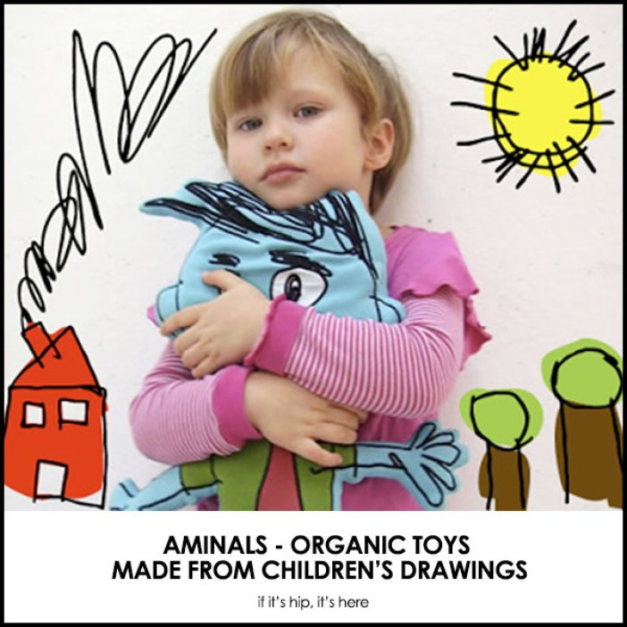Aminals toys made from children's drawings