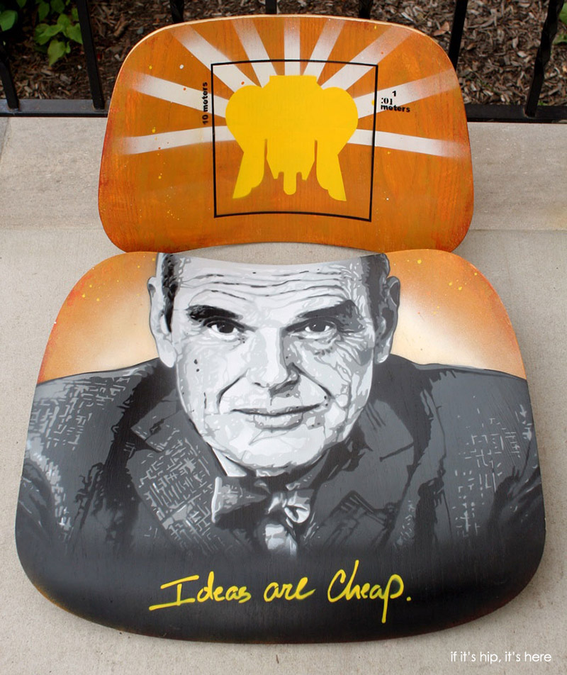 Artist Decorated Eames Chairs