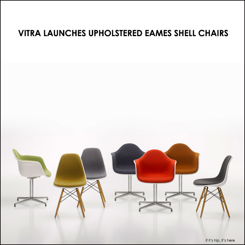 Upholstered Versions of Eames Shell Chairs