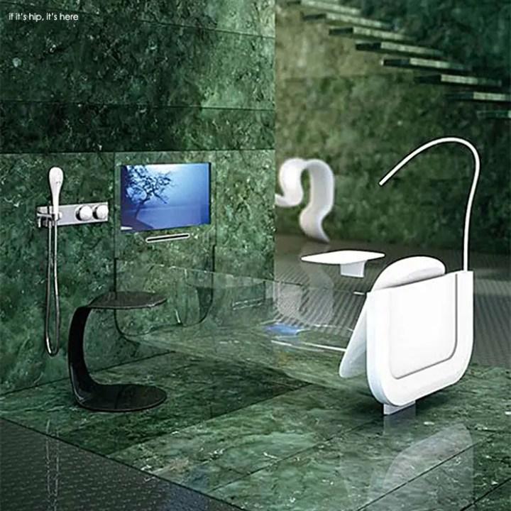 modern glass tubs