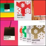 Pantone Christmas Wrapping Paper, Gift Bags, Gift Tags and Cards For The Designer