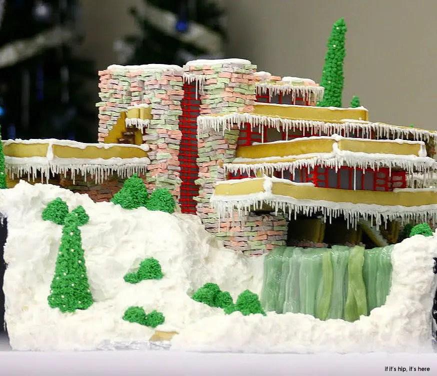 Fallingwater Gingerbread House