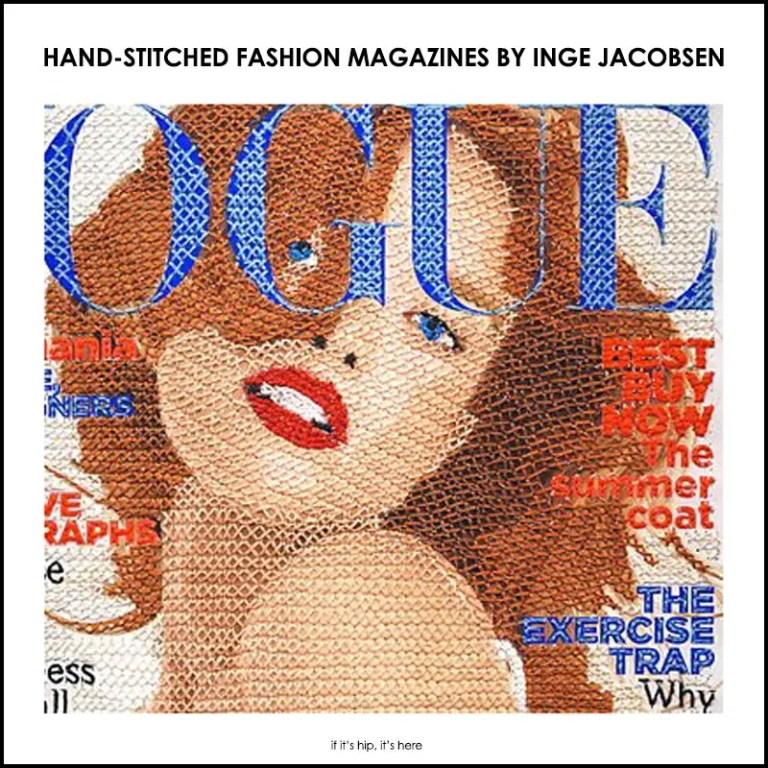 hand-stitched fashion magazines