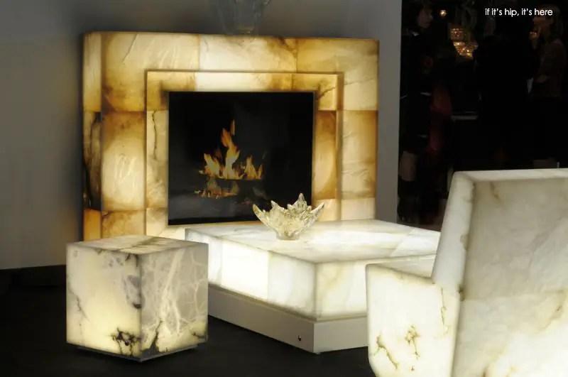 Alabaster furnishings that glow