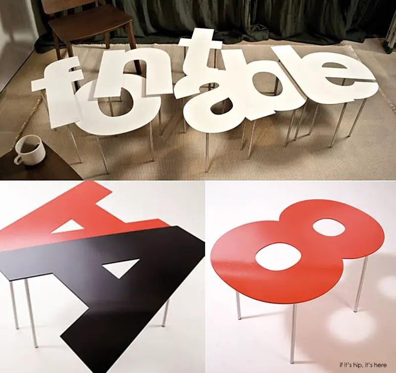 Fontable Letter & Number tables
