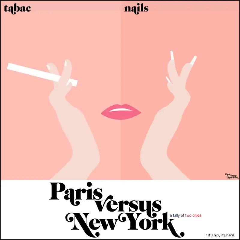 paris vs new york posters