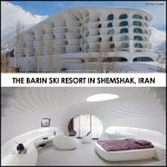 Crazy Curvalinear Ski Resort in Iran Inspired By Snowdrifts and Igloos. The Barin Ski Resort.