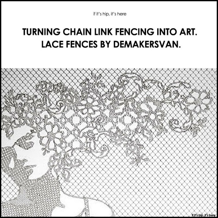 Lace Fences By Demakersvan Turn Chainlink Into Art
