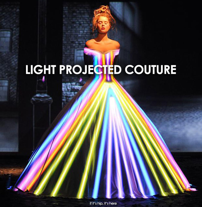 franck sorbier light projected couture