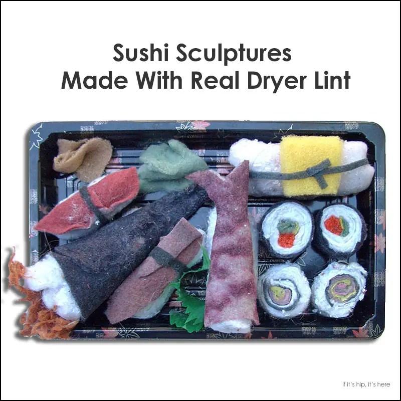 dryer lint sushi