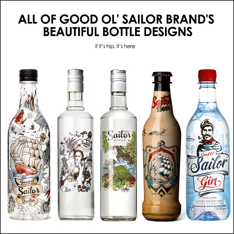 Good Ol' Sailor Brand's Bottle Designs