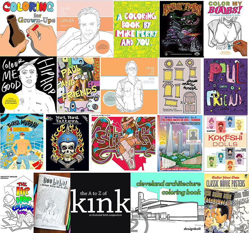 The Coolest Coloring Books For Grown-Ups Part III – 25 New Adult Coloring  Books. – If It's Hip, It's Here