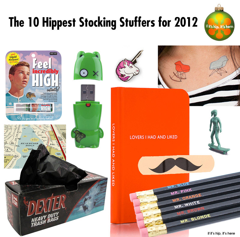 10 hippest stocking stuffers with title