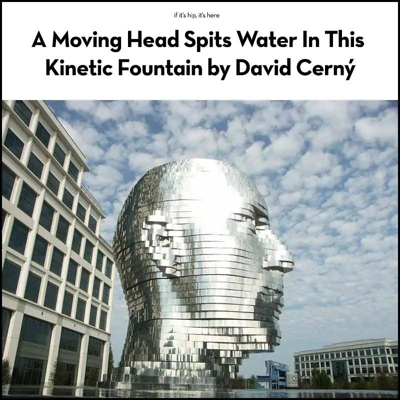 Metalmorphosis Moving Water Sculpture by David Cerny